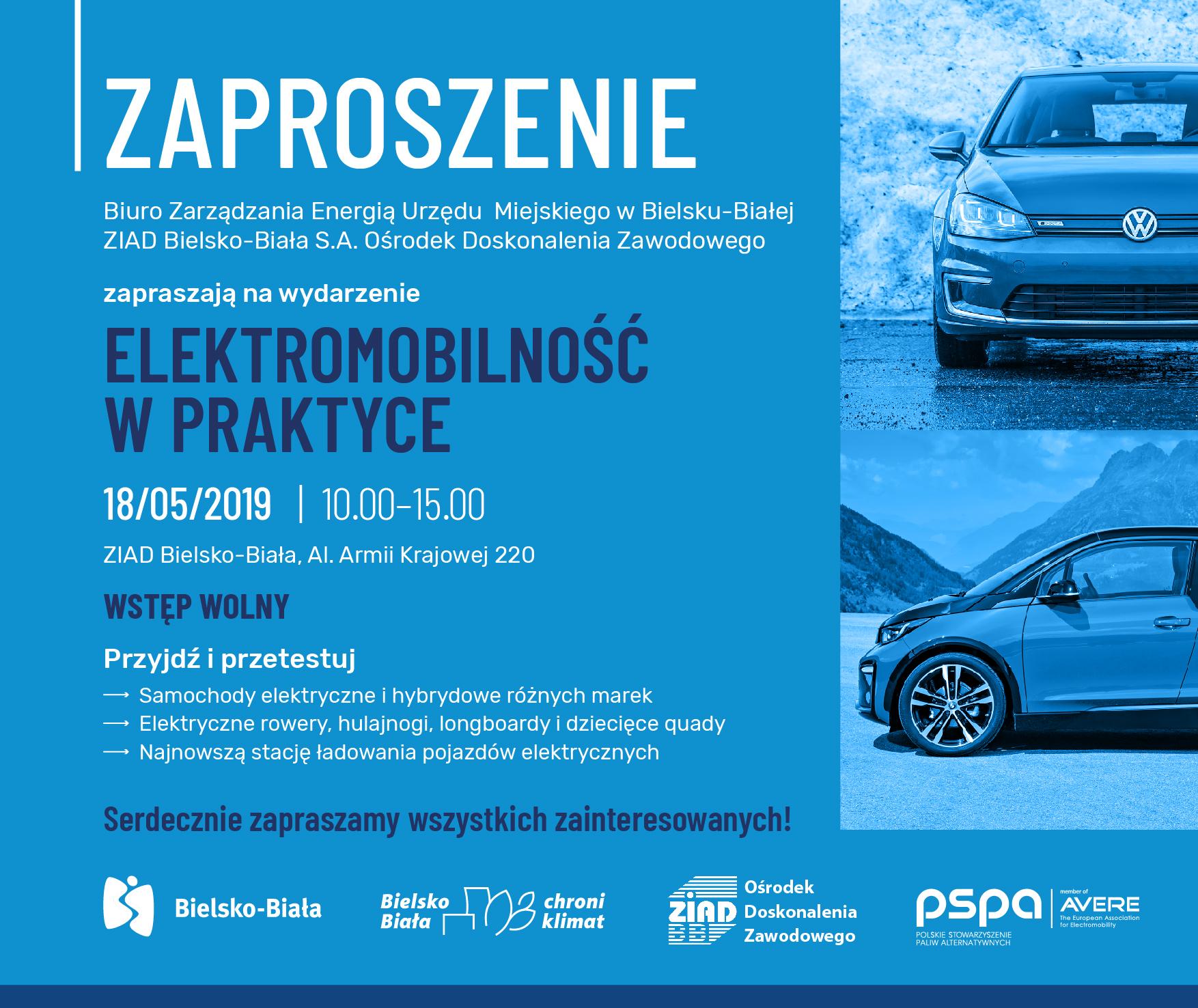 Zaproszenie Elektromobilność WPraktyce 18.05.2019
